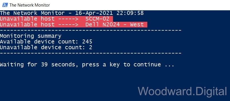 Network Monitor - PowerShell Ping Script